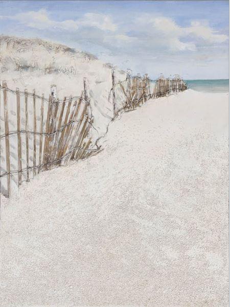 Playa con barrera a la izquierda