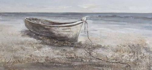 Cuadro: Barco en la arena 70x150cm.