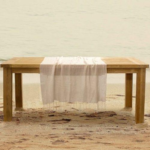 mesa de teca reciclada