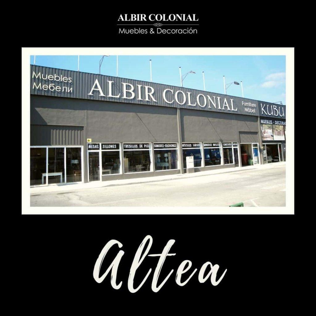 tiendas de muebles albir colonial